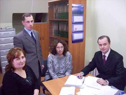 Представители Петро-Павловского Имперского общества с сотрудником фонда Архив музея семьи Бенуа