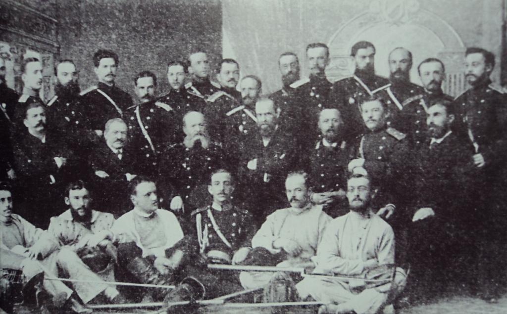 Гимнастические курсы для гвардейских офмцеров. Начало 1880 годов